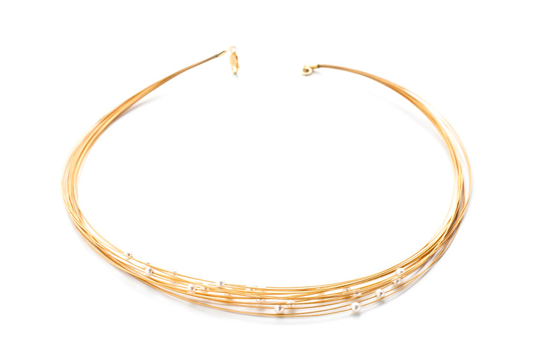Example of use, Jewelry Wire 24K Gold Plated: necklace