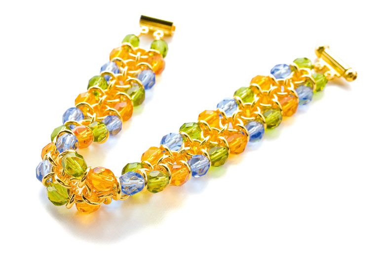 Example of use, Fire-Polished Beads: Bracelet