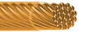 Jewelry Wire 24K gold plated 19 strands